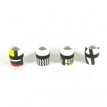Sada 4 Espresso šálků Stripes