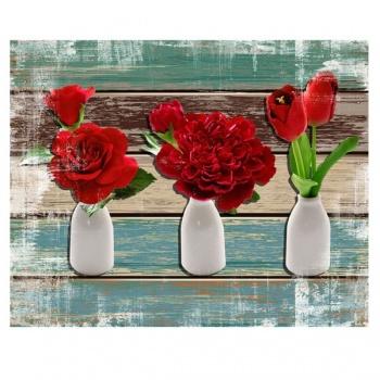 Obraz na plátně - rudé květiny
