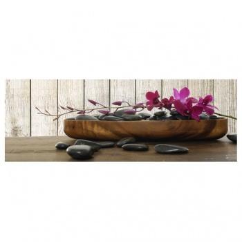 Obraz na plátně - orchidej s lávovými kameny