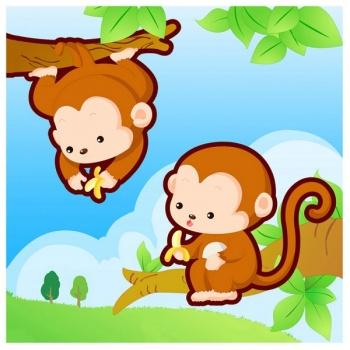 Dětský obraz - opice