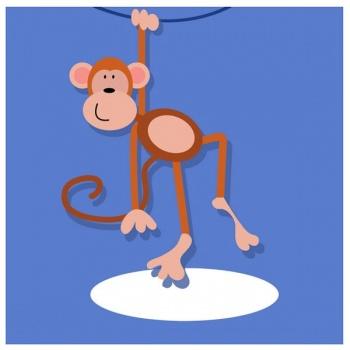 Dětský obraz - opička