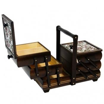 Kufřík na šití - rozkládací
