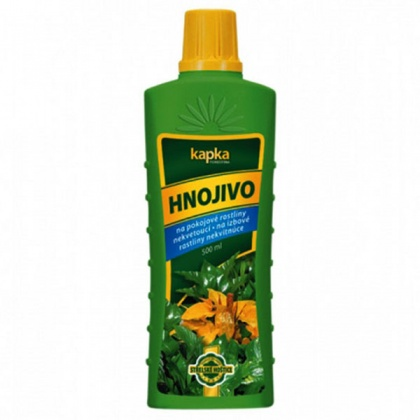 Hnojivo KAPKA na nekvetoucí pokojové rostliny 500ml