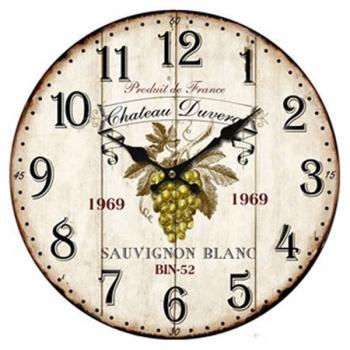 Nástěnné hodiny - motiv hroznové víno