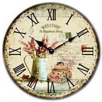 Nástěnné hodiny - motiv levandule