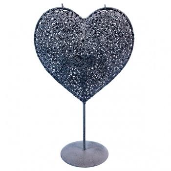 Srdce - kov - svícen