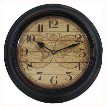 Nástěnné hodiny - mapa