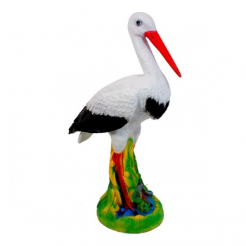 Figurka čáp Plastic Stork