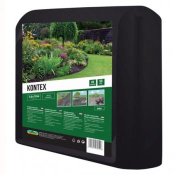 Textilie KONTEX mulčovací netkaná černá 1,6x10m