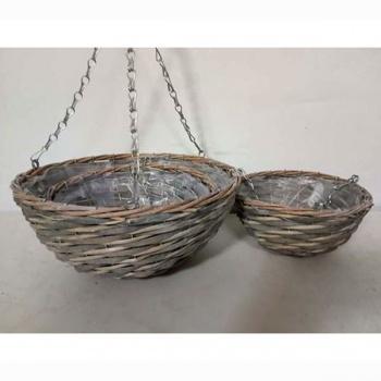 Závěsný košík, štípané dřevo