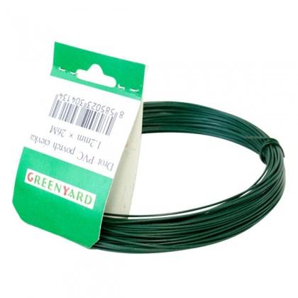 Drát upínací zahradní PVC 1,4 mm x 10 m