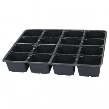 Sadbovač MULTI PL plastový černý 6,5x8 cm 16 ks