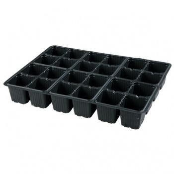 Sadbovač MULTI PL plastový černý 5,5x6 cm 24 ks