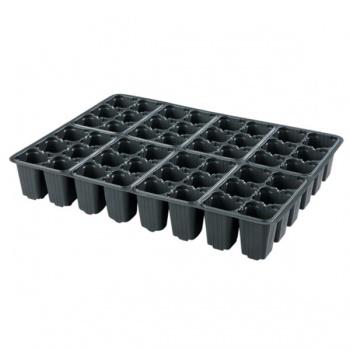 Sadbovač MULTI PL plastový černý 4x4 cm 48 ks