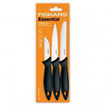 Set nožů FISKARS ESSENTIAL na zeleninu 3ks